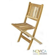 Handcrafted Teakwood 'Mexican Sierra' Folding Chair (Mexico)