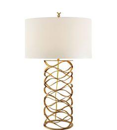 Visual Comfort Studio 1 Light Bracelet Table Lamp in Gilded Iron S3045GI-L #visualcomfort #lightingnewyork #lighting