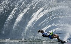 The United States' Regina Jaquess skis during the slalom portion of the women's overall water ski competition Slalom Skiing, Ski Nautique, Wakeboard Boats, Buy A Boat, Ski Boats, Sup Surf, Water Photography, Stunning Photography, Wakeboarding