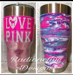 #pink #pinknation #lovepink #victoriassecret #glitter #bossbabe #boss #custommade #tumbler