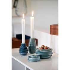 Cono ljusstake, blå i gruppen Inredningsdetaljer / Dekoration / Ljuslyktor & Ljusstakar hos RUM21.se (130678)