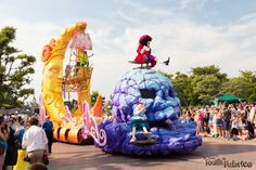 Peter Pan sur son char de Disney's Stars on Parade