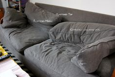Tutorial on how to fix the back cushions of our sofa! (that really is our sofa too, actually)