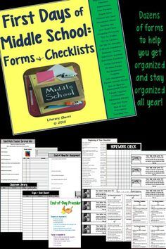 Necessity is the mother of invention! Here is a Middle School Teacher's Survival Kit: Classroom Expectations, Supply Lists, Letter to Parents, Homework Check, Reading Log, Late Assignment Forms, No Homework Coupons, Classroom Library, Sign-Out Sheet, and many other resources! Effective for all content areas, this makes a great addition to your files or your Teacher Binder and a perfect gift for first-year teachers! #classroommanagement #organizeyourclassroom