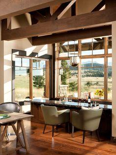 A Montana Timber Home Bar Style