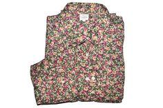 Vintage J.Crew Floral Button Up Blouse Womens Shirt 90s Grunge