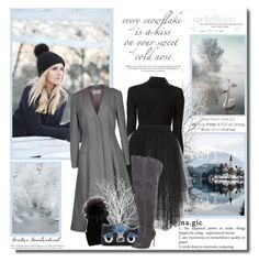"""""""Every snowflake is a kiss on your sweet cold nose!!"""" by lilly-2711 ❤ liked on Polyvore featuring Balmain, Elie Saab, Thom Browne, Inverni, Fendi, Gianvito Rossi and Dansk"""