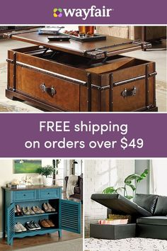Storage furniture: Get ready to finally conquer all that clutter with storage that makes organization easy. Get every room in tip-top shop, from the garage to the closet with baskets, bins, storage furniture, and more. To top it off, we're offering FREE shipping on all orders over $49. Sign up for access to exclusive sales, all at up to 70% OFF!