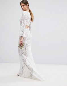 Jarlo Tall | Jarlo Tall Cutout Back Lace Maxi Dress With Train
