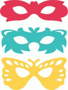 Silhouette Design Store - View Design #77836: assorted party masks