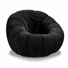 Chelsea Black Plush Chair