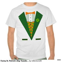 Funny St. Patrick's Day Tuxedo Shirt