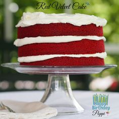 Red Velvet Cake - easy version of the classic. Mix all dry ingredients, mix all wet ingredients, add the wet to the dry then bake. It's as easy as that.
