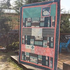 Quilt featuring Fair Isle fabrics from @sew_christy