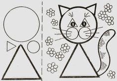 Pedagogia Brasil: Animais feitos com figuras geométricas