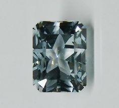 This is a rectangular star cut in natural blue Texas topaz.