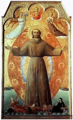 St. Francis in Ecstasy, 1444-Stefano di Giovanni.