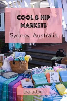 Australia loves the outdoor lifestyle and Sydney has plenty of cool and hip markets. Enjoy shopping for fashion, jewellery and designer wares. via LesterLost Sydney markets things to do on a weekend Brisbane, Melbourne, Travel Advice, Travel Guides, Travel Tips, Travel Hacks, Travel Packing, Budget Travel, Great Barrier Reef