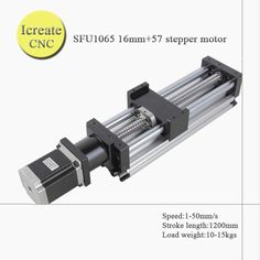 FREE SHIPPING 1200mm travel length linear guide rail cnc Stage Linear Motion Moulde Linear Ballscrew 1605 name 23 stepper motor #Affiliate
