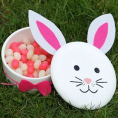 Bunny Candy Boxes - 80 Fabulous Easter Decorations You Can Make Yourself