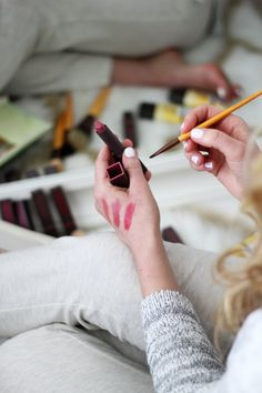 How to Apply Lipstick with a Brush.