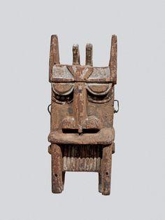 Sekiapu society mask (Owu, hippo head) made of wood.