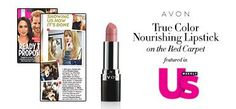 Get red carpet ready with Avon True Color Nourishing Lipstick in Peony Blush! cc: Us Weekly #AvonRep | Avon | Pinterest | Colors, Magazines and Peonies