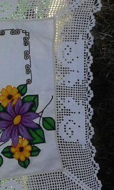 Filet Crochet, Stamp, Stitch, Salad, Chicken, Decor, Bath Linens, Crochet Hearts, Crochet Edgings