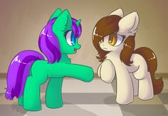 Commission - Memory Lane and Serendipity as Foals by Sapphfyr.deviantart.com on @DeviantArt