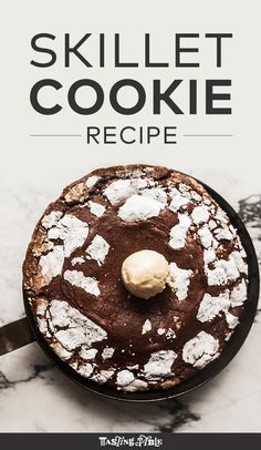 Learn how to make one giant chocolate crinkle using a skillet.