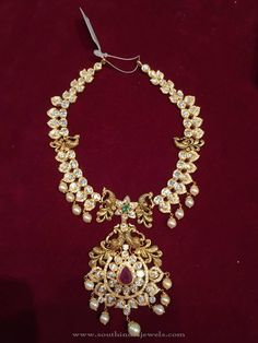 You searched for peacock ~ Page 3 of 49 ~ South India Jewels Bridal Jewelry, Gold Jewelry, Jewelery, Gold Necklaces, Short Necklace, Necklace Set, Pearl Necklace, Pearl Set, Neck Piece