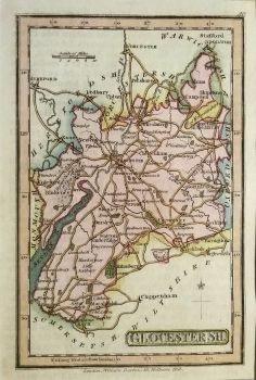 Old Map Of Gloucestershire Edi Maps Full HD Maps - Cheap vintage maps