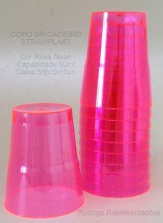 copo brigadeiro #strawplast rosa neon