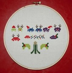 Space Invader Christmas Needle Point Pattern | CY.TALK® Blog: world news and facts