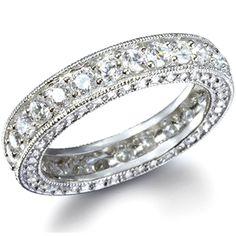Ivana's Antique Style Round Imitation Diamond Eternity Ring - Only $49.95 — Fantasy Jewelry Box