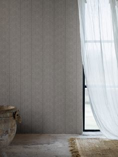 Inspired by aborigine art, the intricate lines of our Geo Tribe wallpaper in light grey add an edgy eclecticism to any interior. Designers Guild Wallpaper, Designer Wallpaper, Bespoke Design, Modern Design, Marimekko Wallpaper, Wallpaper Suppliers, Harlequin Wallpaper, Cole And Son Wallpaper, Morris Wallpapers