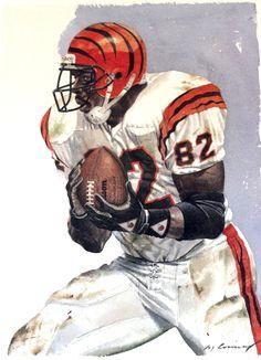 Rodney Holman, Cincinnati Bengals by Merv Corning, 1991
