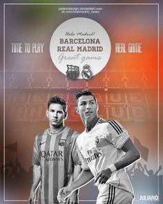 Messi vs. Ronaldo El Clasico by Juliano Kuvanzhi, via Behance