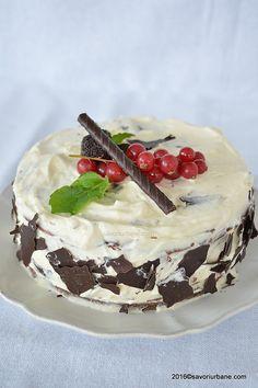 Tort crema mascarpone vanilie (2) Camembert Cheese, Deserts, Sweets, Cakes, Mini, Food, Model, Mascarpone, Gummi Candy