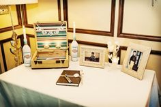 could do the pictures of all relatives' weddings on the card table