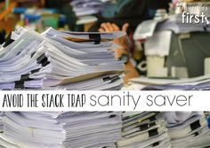EASY ways to stay organized and avoid the stack of papers on your desk!