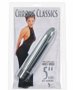 """Vibrating Chrome Classics 5"""" Mini by VPK. $17.99. Phthalate Free. Plastic. Vibrates. Multi-Speed. Take this discreet little personal massager everywhere you go. Its sleek 5"""" design will pleasure you no matter how you use it. Great for stimulation of small, sensitive areas. Multiple speeds can be controlled by the twist bottom. And it only takes one tiny AA battery! No vibrator is more convenient!. Save 10%!"""