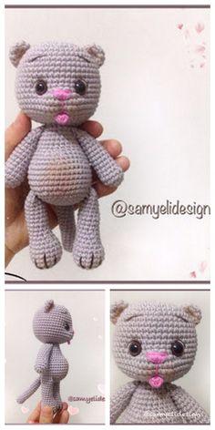 All free amigurumi crochet patterns and tutorials. Crochet Cat Pattern, Softie Pattern, Crochet Patterns Amigurumi, Crochet Toys, Free Pattern, Crocheted Animals, Chat Crochet, Crochet For Kids, Free Crochet