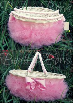 Personalized Monogramed Tutu Easter Baskets in by BeatrixBows