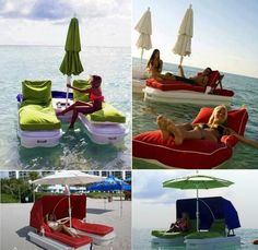 Amazing invention a floatable lounge chair... keeeooooooowwwwwwwLLLLLLLiiiiiiieeeeeeoooooohhhhhh......sweeeetttt LOL