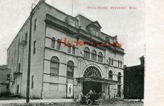 Menominee Michigan Opera House Car 1908 MI