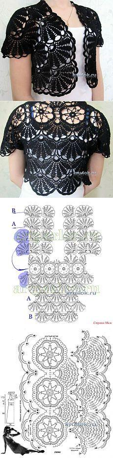 Hekle bolero - arbeide Lyudmila - Hekle på kru4ok.ru Lace Skirt, Patterns, Crochet, Handmade, Women, Fashion, Tejidos, Block Prints, Moda