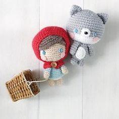 Amigurumei Little Red and Baby Wolf Amigurumi Pattern Crochet pattern by Amigurumei