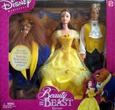 I remember having these dolls! I remember the velcro on them ruining the fabric on Belle's dress too... lol