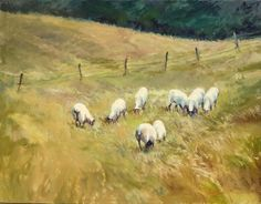"Mary's Paintings: ""Sheep In The Meadow"" Updated"